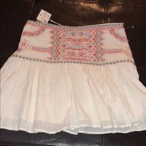 Zara Trafaluc Collection Embroidered Mini Skirt
